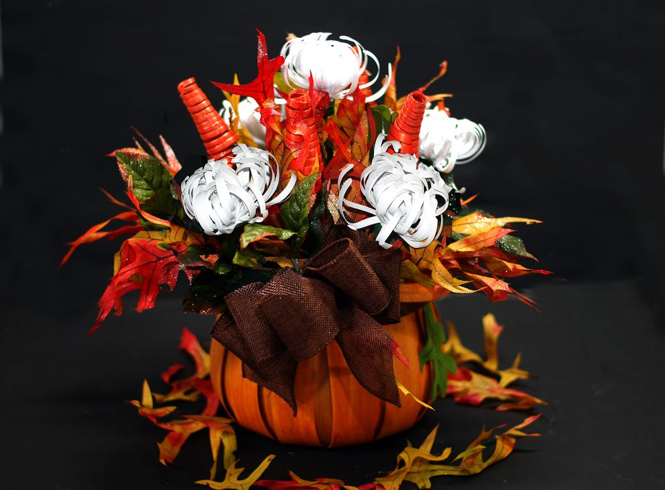 fall paper flower arrangements
