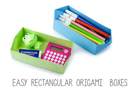 Easy Rectangular Origami Box Instructions