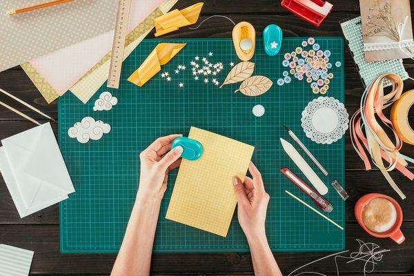 cropped image of designer