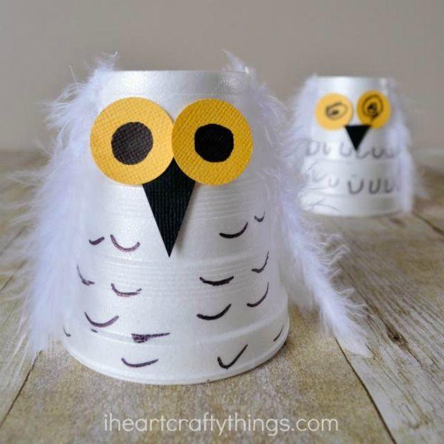 Foam Cup Snowy Owl