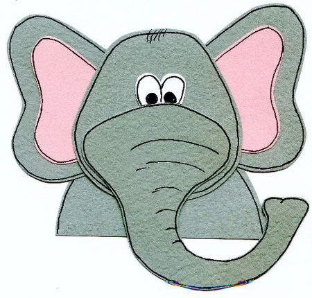 Free Paper Pieced Elephant Scrapbook Page Embellishment