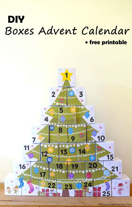 day 6 advent box christmas tree