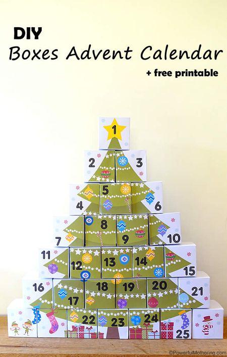 day 6 advent box christmas tree