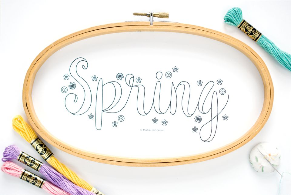 Spring Seasonal Embroidery Pattern