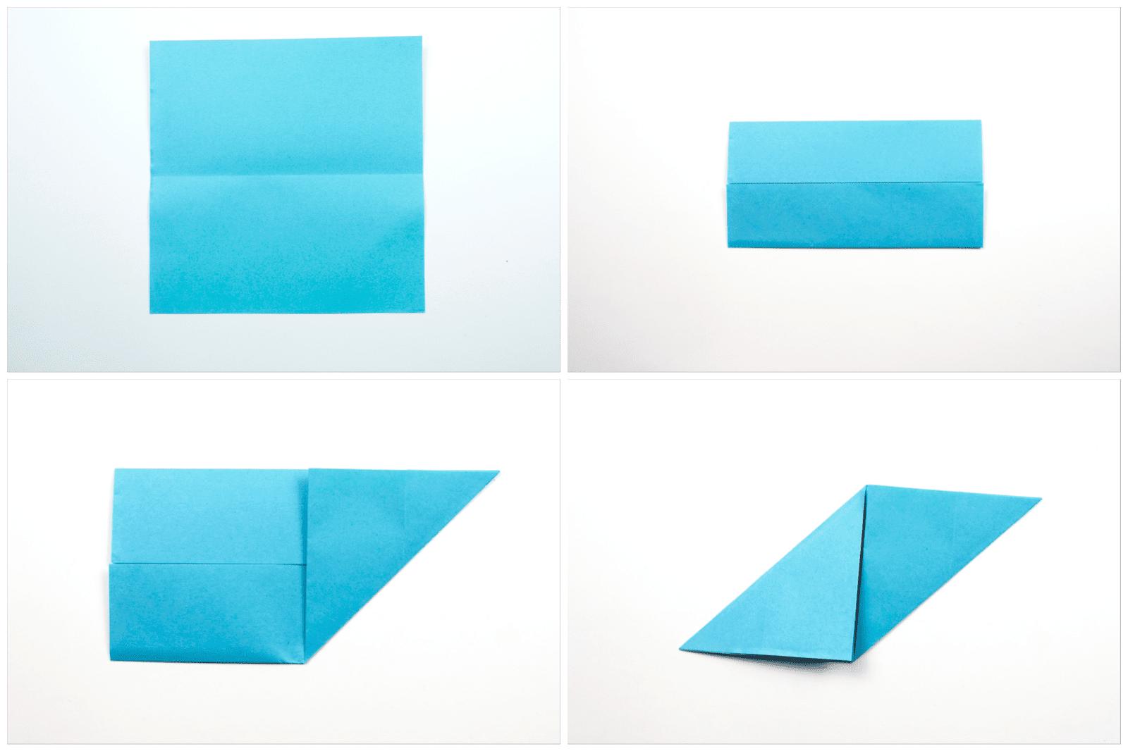 Origami Sonobe wall display step 1
