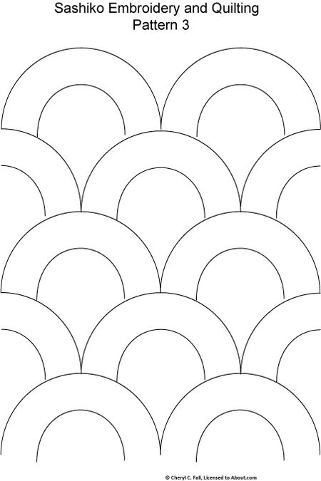 Free Sashiko Repeating Embroidery Patterns