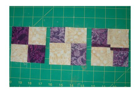 Press Four Patch Quilt Blocks To Reduce Bulky Seams