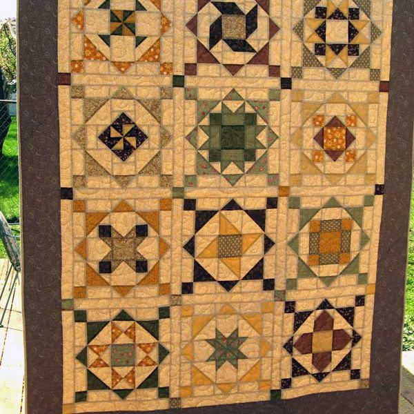 A Quilted Constellation Sampler Quilt