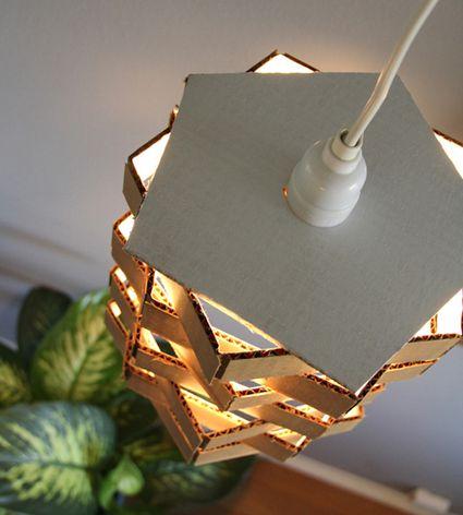 diy cardboard pendant light