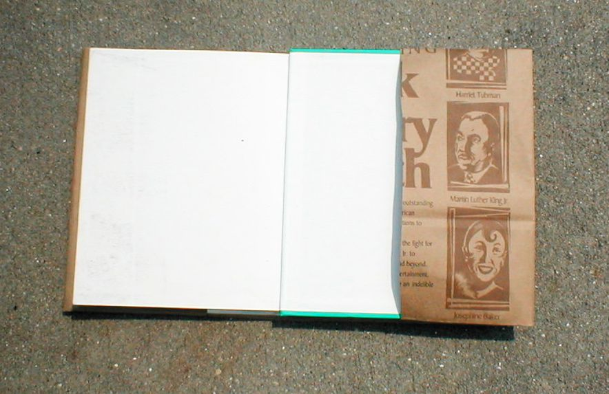 how to make a book cover from paper bag