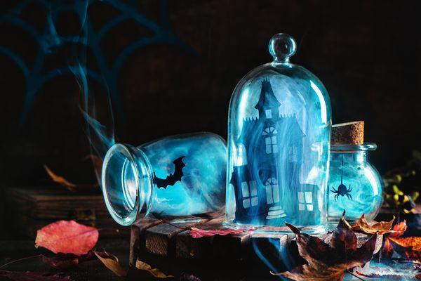 DIY halloween jar decorations