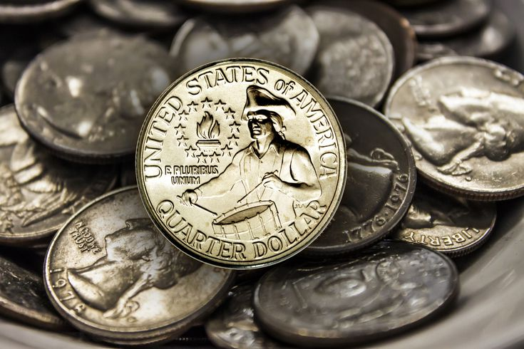 "1964-P Gem BU Silver Washington Quarter Coin with ""Mint Luster"""