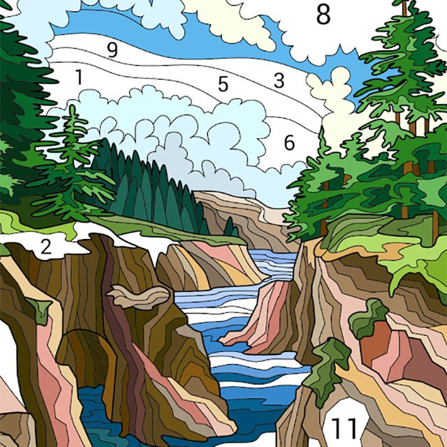 A nature color by number game