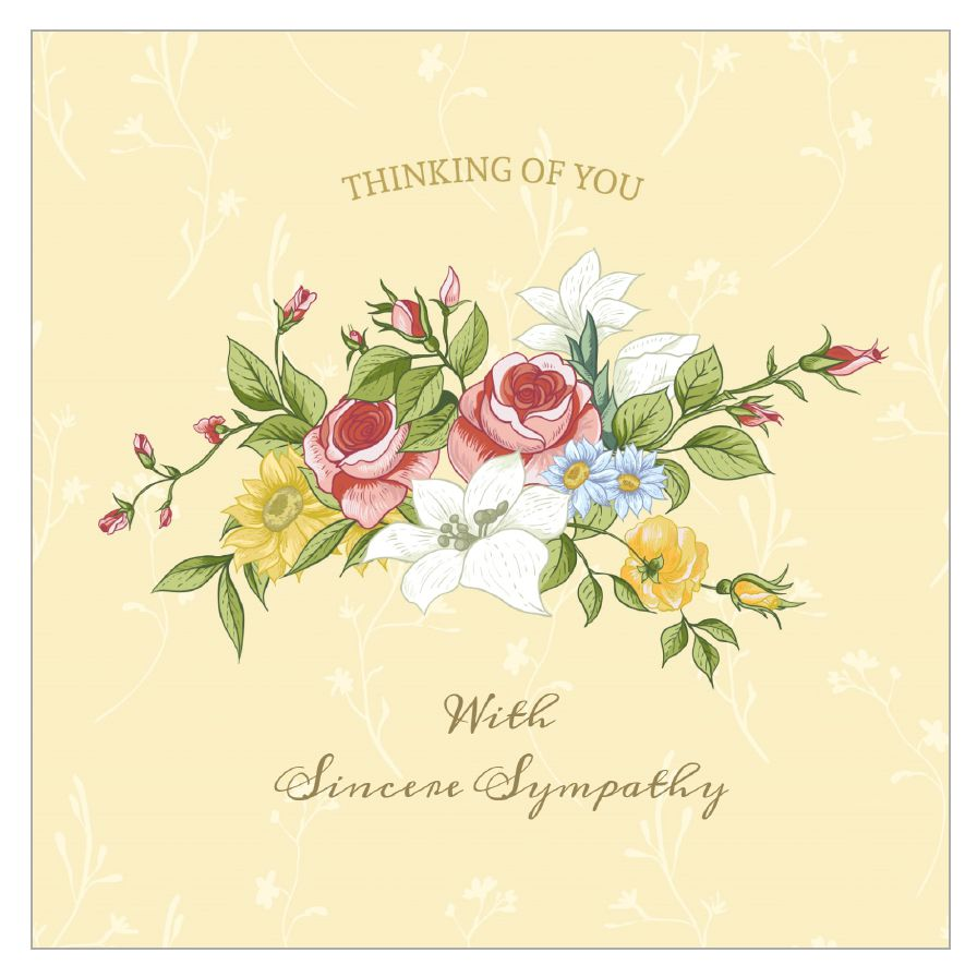 11 free printable condolence and sympathy cards a sympathy card with a bouquet of flowers on it izmirmasajfo