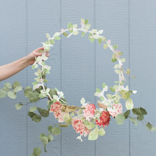 wallpaper floral wreath