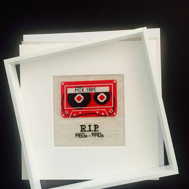 RIP Mix Tape cross stitch patter