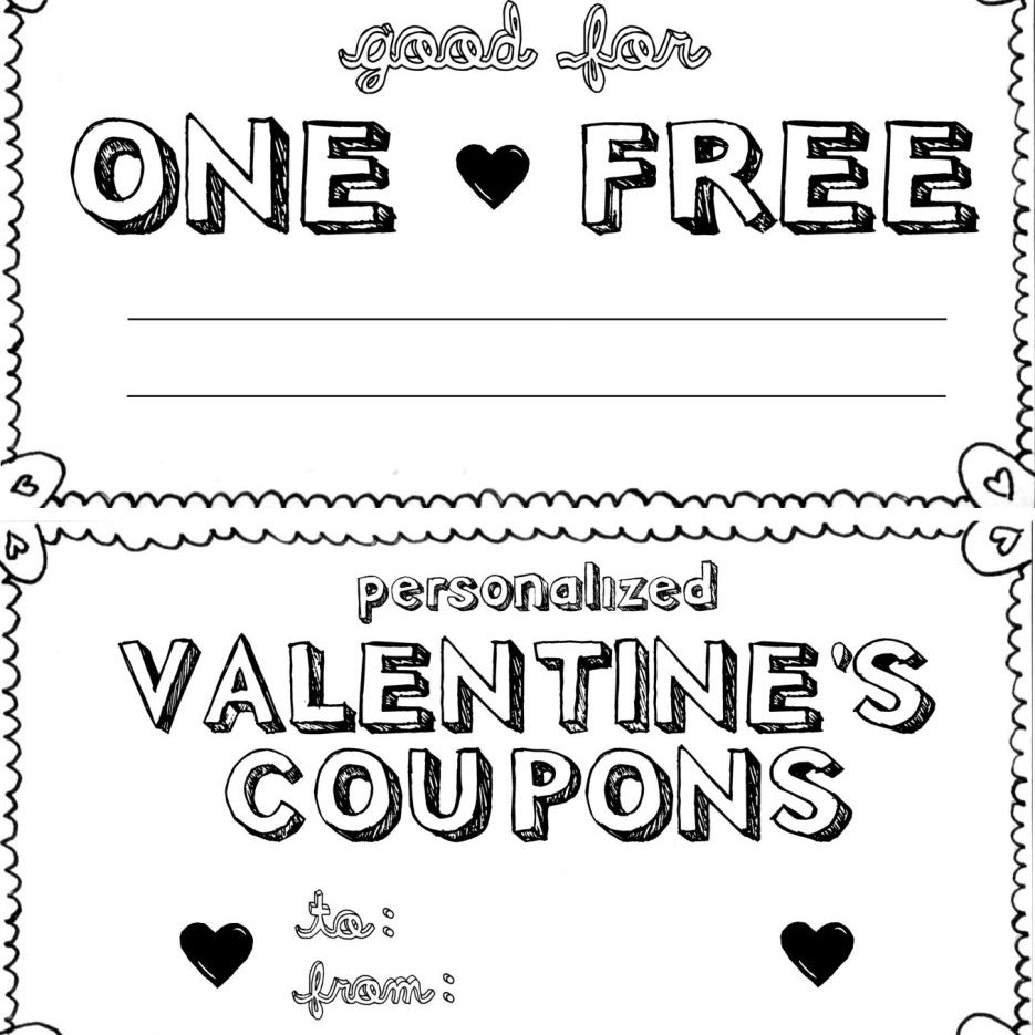 15 sets of free printable love coupons and templates for Love coupon template for word