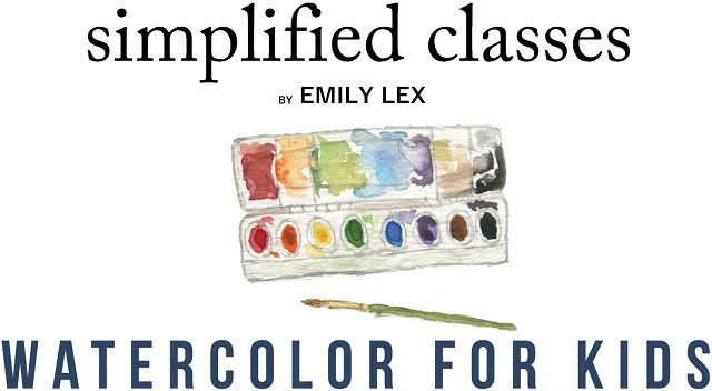 Simplified Classes Watercolor for Kids