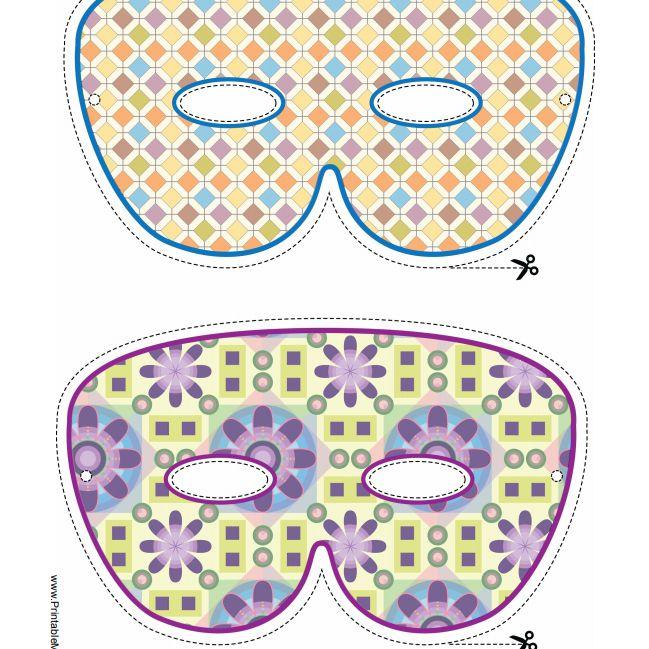 Two Printable Mardi Gras Masks