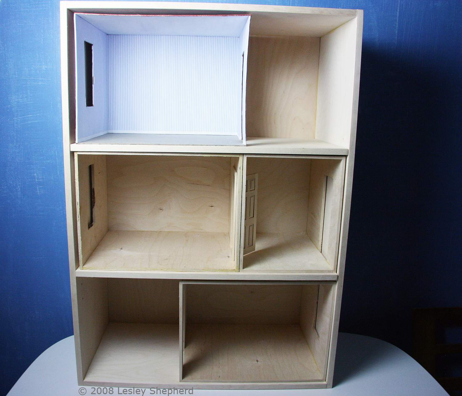 Build A Front Opening Doll House Or Dollhouse Bookcase Dolls Wiring Completed Baby Case With Two Adjustable Shelves Holds Collection Of Unfinished Roomboxes