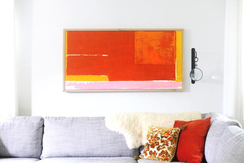 Abstract canvas wall art.