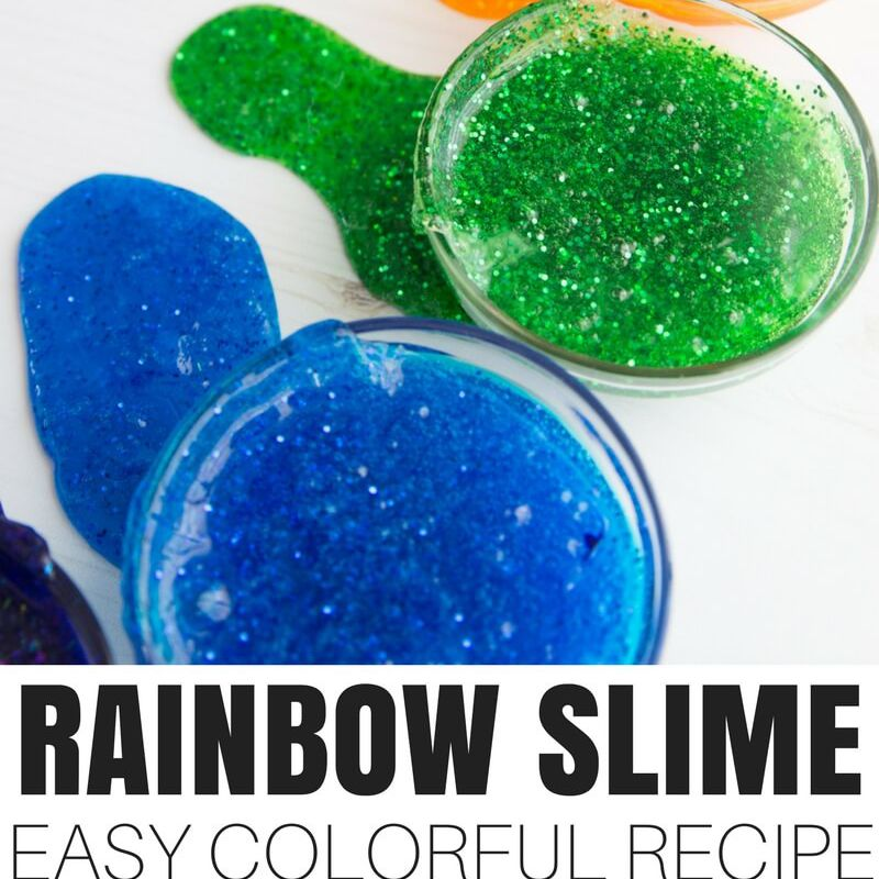 Rainbow slime craft