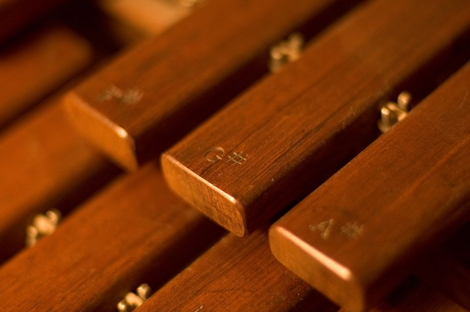 Marimba bars made from Rosewood