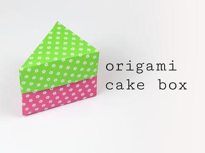Origami Cake Box Tutorial Advanced