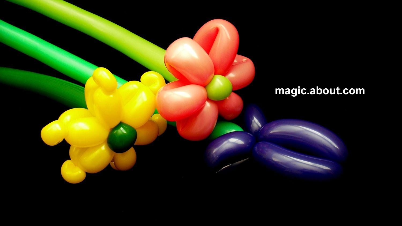 How To Make Easy Flower Balloons