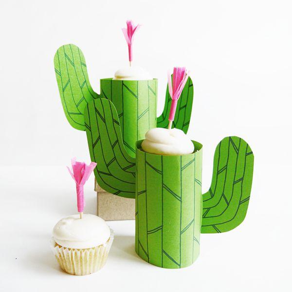 DIY Mini Cupcake Cactus Stand