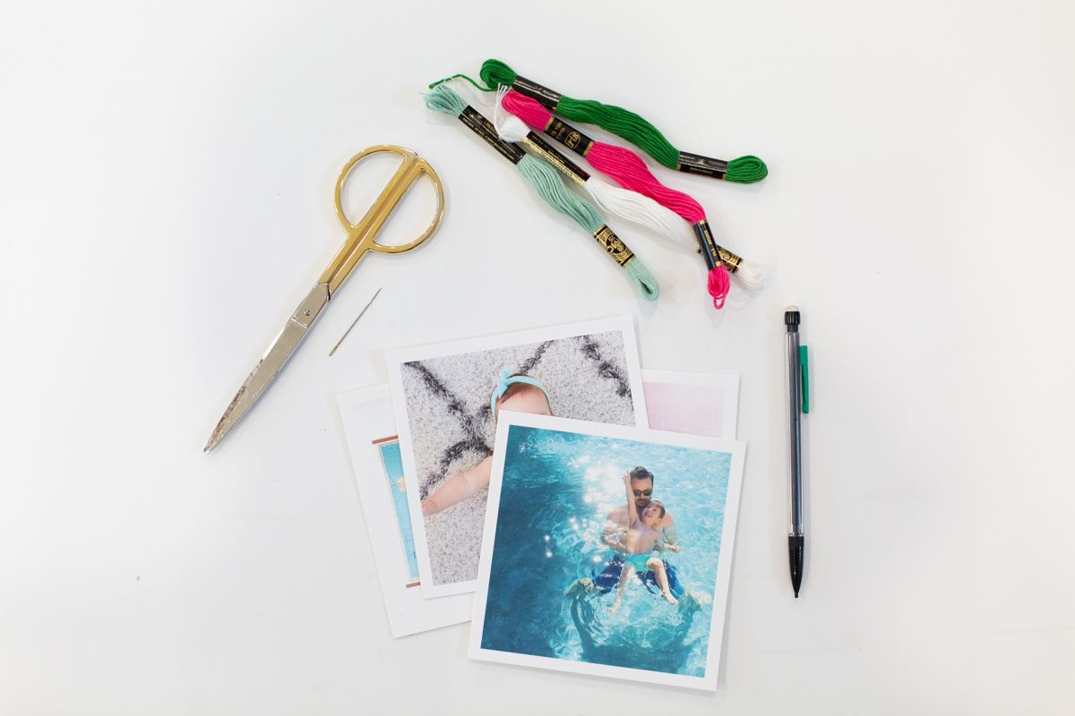 Materials to create embroidered photos