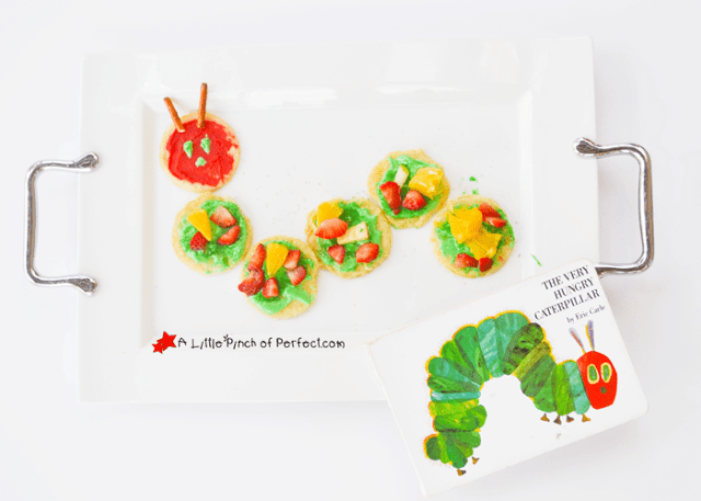 caterpillar fruit pizza cookies