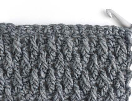 Crochet in Alpine Stitch