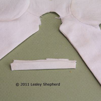Dolls Lab Coat Collar Ready To Be Stitched The Neckline