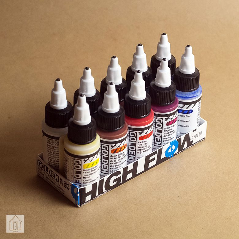 Golden High Flow Acrylic Paint Set