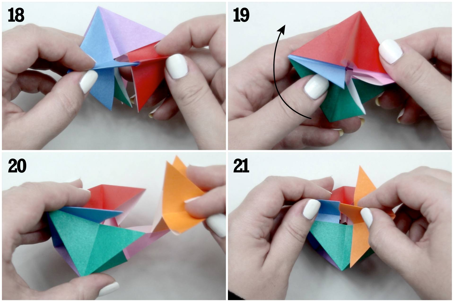 Origami Blow Top Toy Instructions
