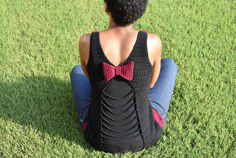 Crochet Tank Top Pattern with Bow
