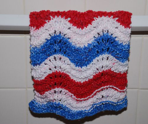 Feather and Fan Dishcloth.
