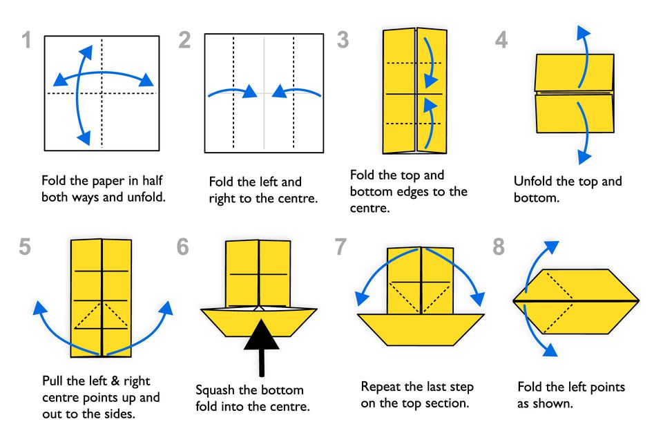 Step-By-Step Instructions for Making an Origami Fish on