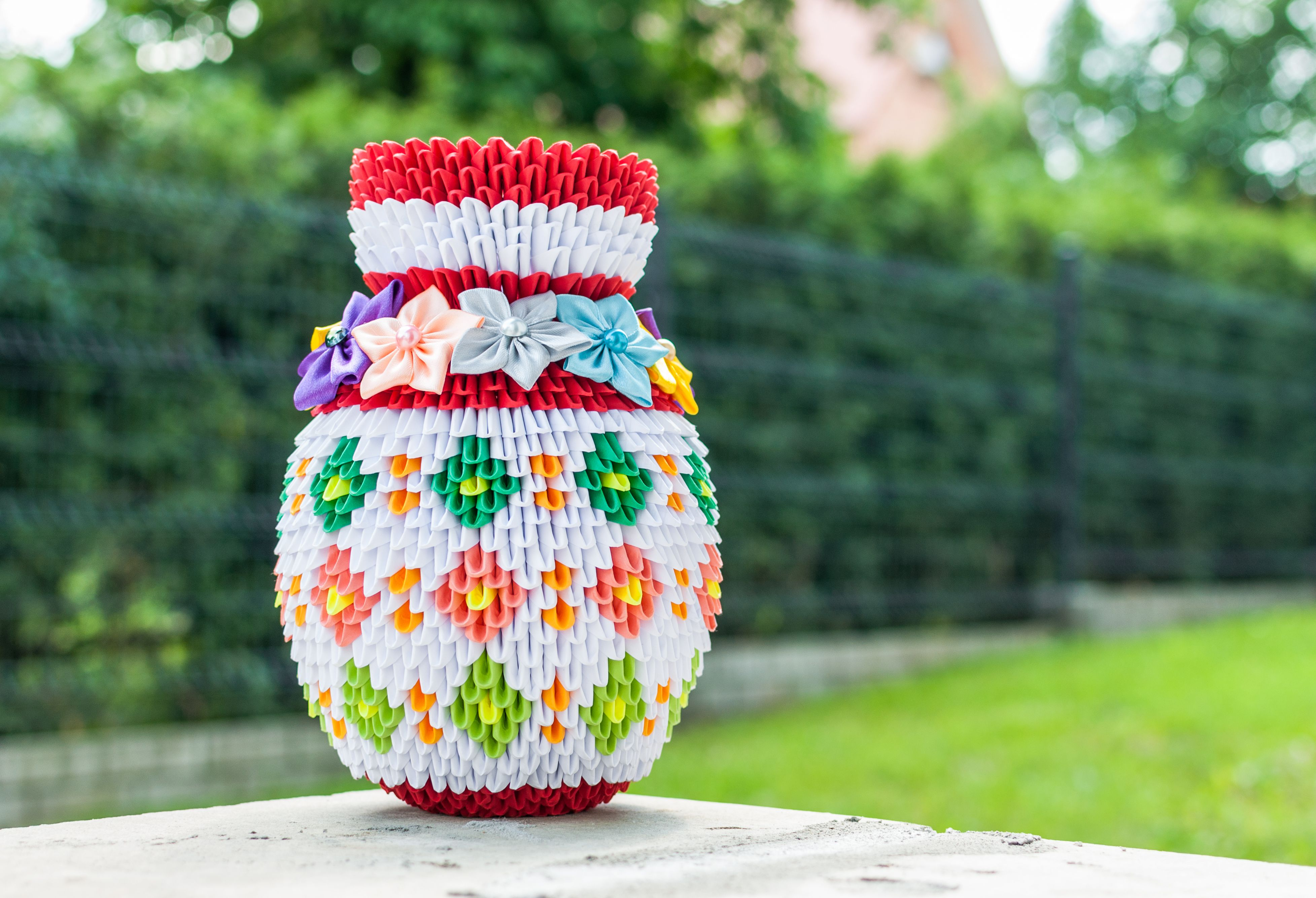 Example of 3D origami vase