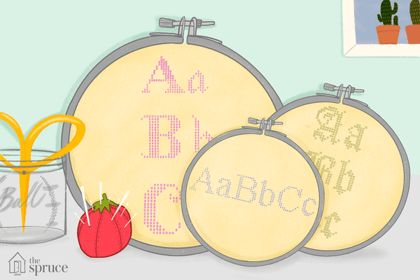Illustration of stitched letters