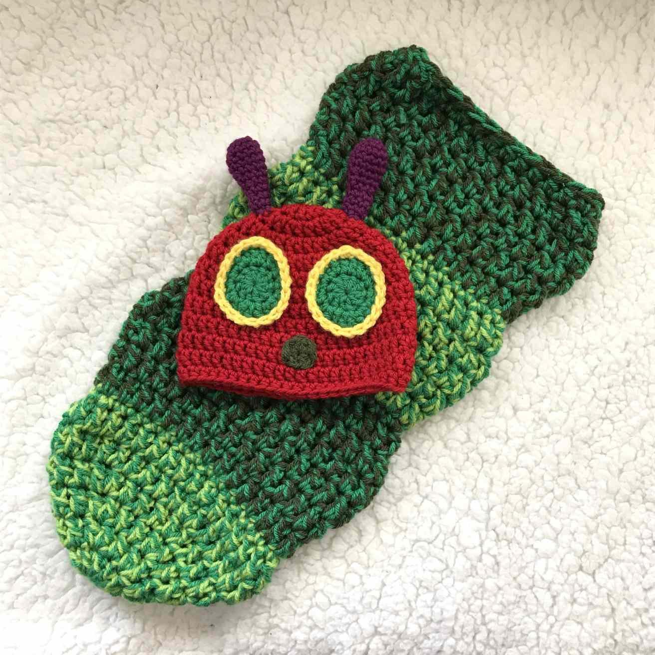 Caterpillar Cocoon Free Crochet Pattern