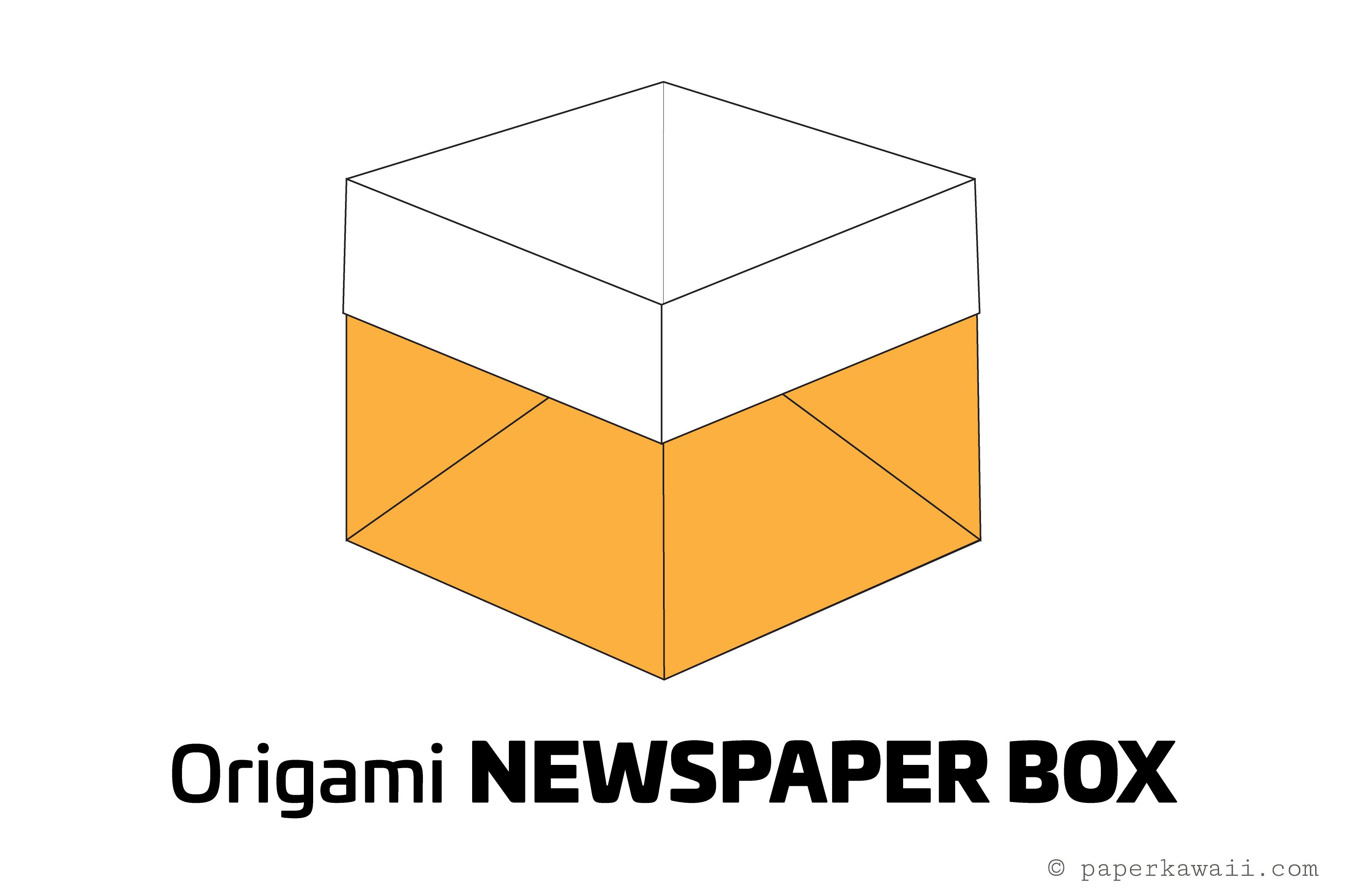 Easy Origami Newspaper Box Tutorial