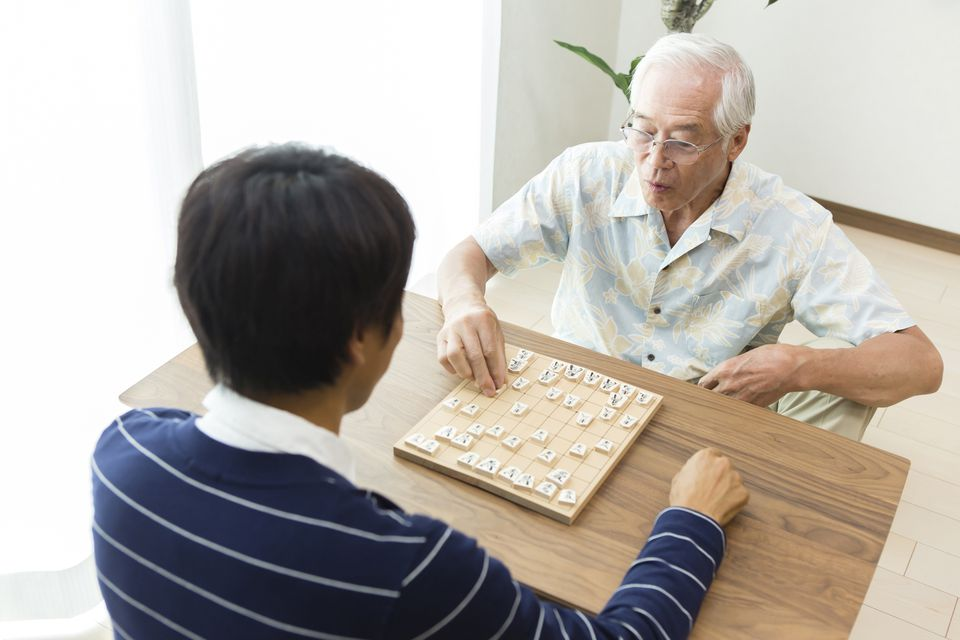 People playing Shogi
