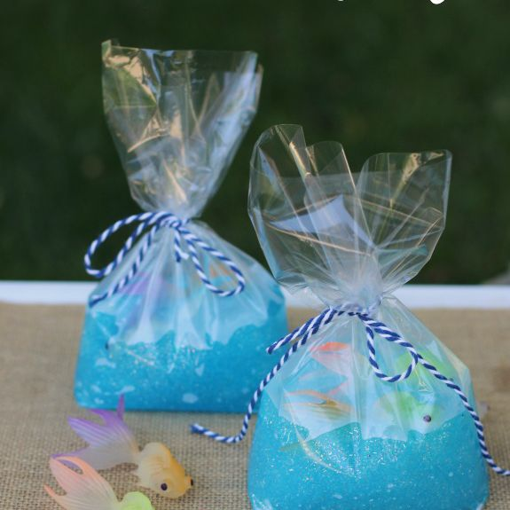 fish in a bag slime craft