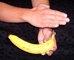 showing banana trick