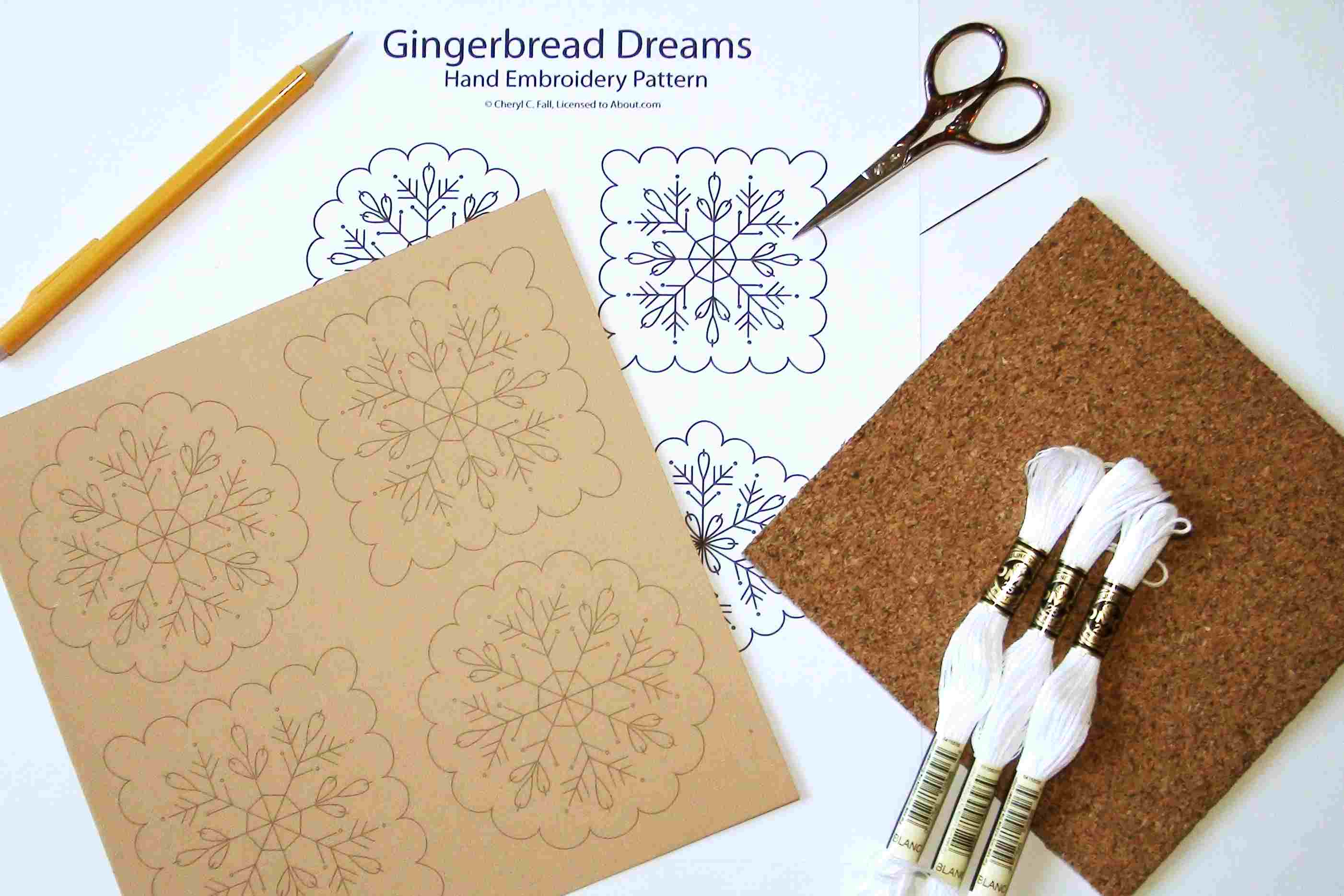 Supplies for Embroidering on Paper