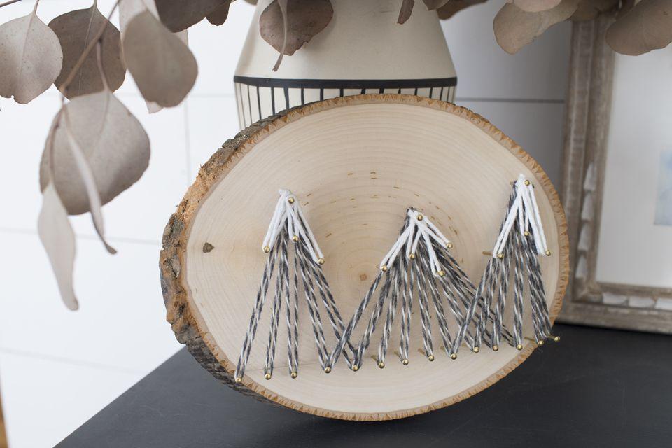 DIY mountain string art