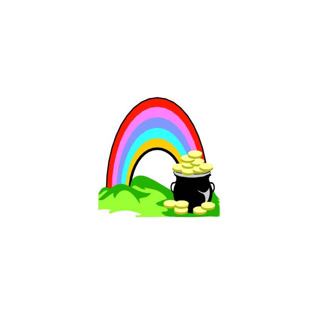 A rainbow and a pot of gold