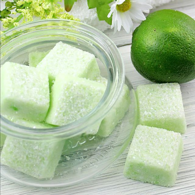 sugar scrub cube soap with lime